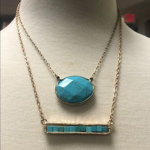 Two Separate Turquoise Necklaces,NWT